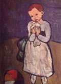 Picasso painting of a Child with a Dove